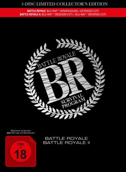 Battle Royale 1+2 - 3-Disc Movie Edition im Mediabook
