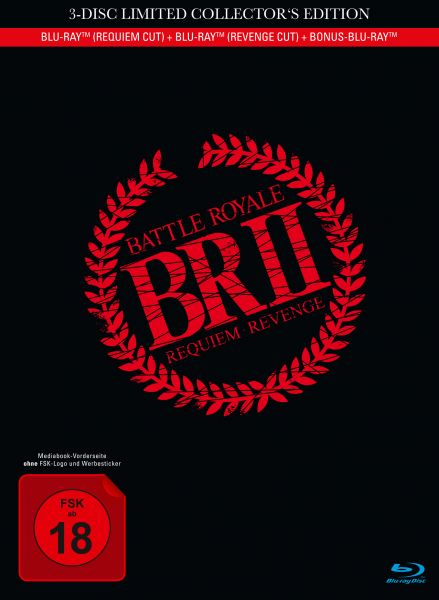Battle Royale 2 - 3-Disc Mediabook inkl. Requiem Cut, Revenge Cut und Bonus-BD