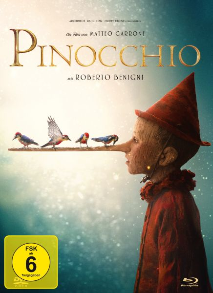 Pinocchio - 2-Disc Limited Collector's Edition im Mediabook (Blu-ray + DVD)