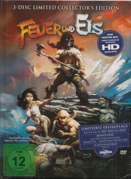 Feuer und Eis - 3-Disc Limited Collectors Edition (Blu-ray + DVD Mediabook) (OUT OF PRINT)
