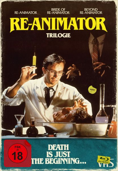 Re-Animator 1-3 - 4-Disc Limited Collector's Edition im VHS-Design